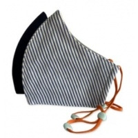 Happy Natural Products Organic Cotton Masks Kids Navy/Stripes