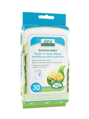 Aleva Naturals Bamboo Baby Tooth n Gum Wipes