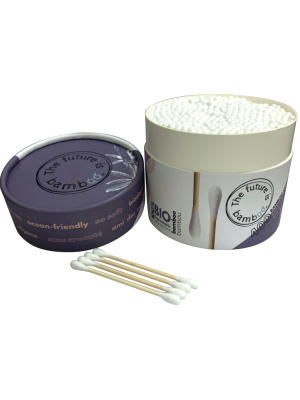 The future is bamboo Bamboo cotton swabs