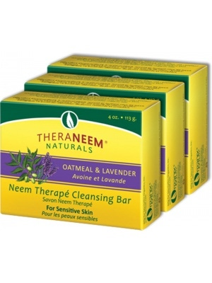TheraNeem Naturals Oatmeal & Lavender Cleansing Bar