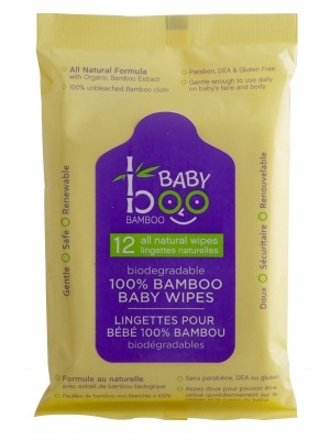Boo Bamboo Baby Boo Wipes 12 Ct Travel