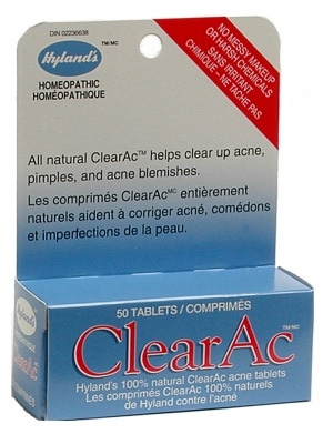 Hyland's ClearAc (clears up acne)