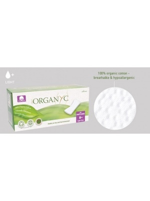 Organ(y)c 100% Organic Cotton Panty Liners Light Flat Packed